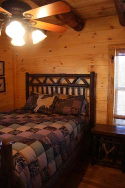 cabin bedroom rental property