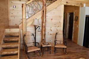 stair landing in cabin rental