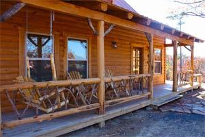 Mena cabin rental-property-porch
