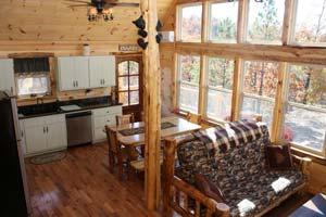 Mena cabin rental inside