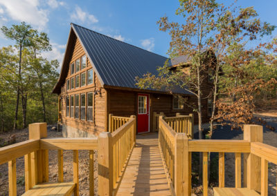 Exterior 15 Hideaway At Clear Sky Ridge Cabin Rentals Near Wolf Pen Gap In Mena Arkansas