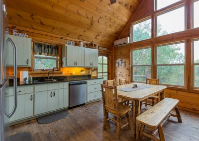 Kitchen 1 Clear Sky Ridge Cabin Rentals Near Wolf Pen Gap In Mena Arkansas 1
