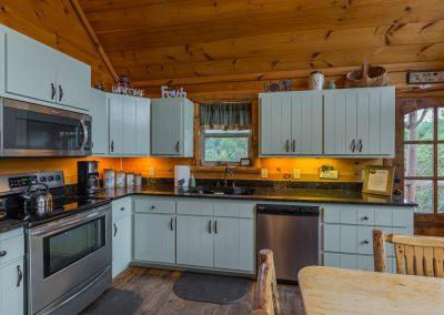 Kitchen 2 Clear Sky Ridge Cabin Rentals Near Wolf Pen Gap In Mena Arkansas 1