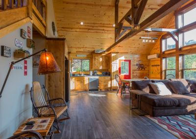 Living Area 2 Hideaway At Clear Sky Ridge Cabin Rentals Near Wolf Pen Gap In Mena Arkansas