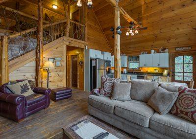 Living Room 3 Clear Sky Ridge Cabin Rentals Near Wolf Pen Gap In Mena Arkansas 1