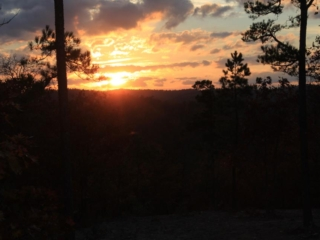 Sunset from the cabin